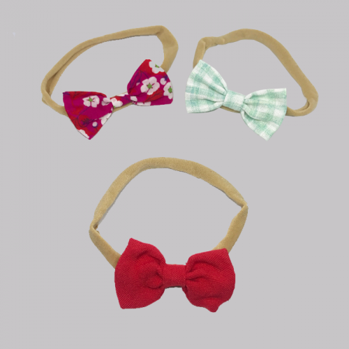8028 3bows_checkered_red_blossom